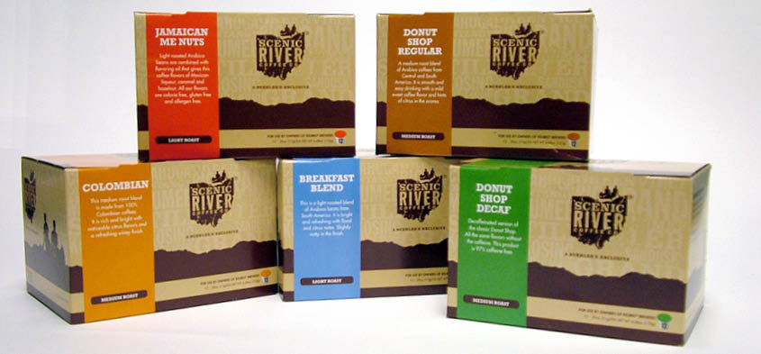 Scenic River Coffee K-Cup boxes photo