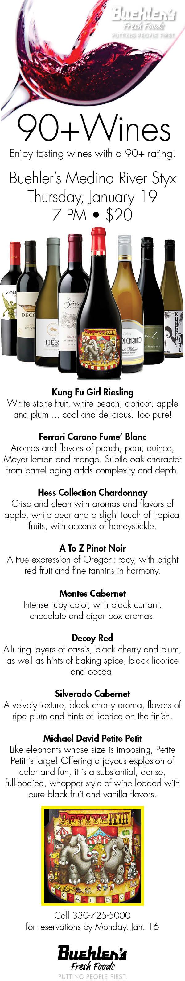 90+ Wines - Wine Tasting
