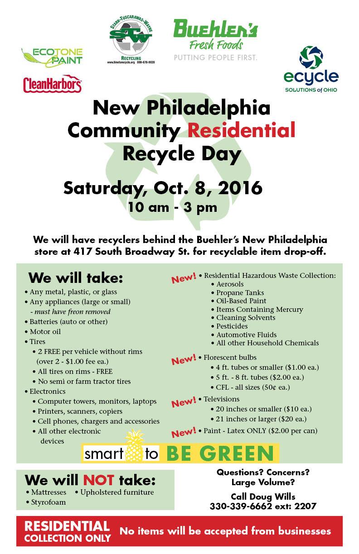 New Philadelphia Recycling event