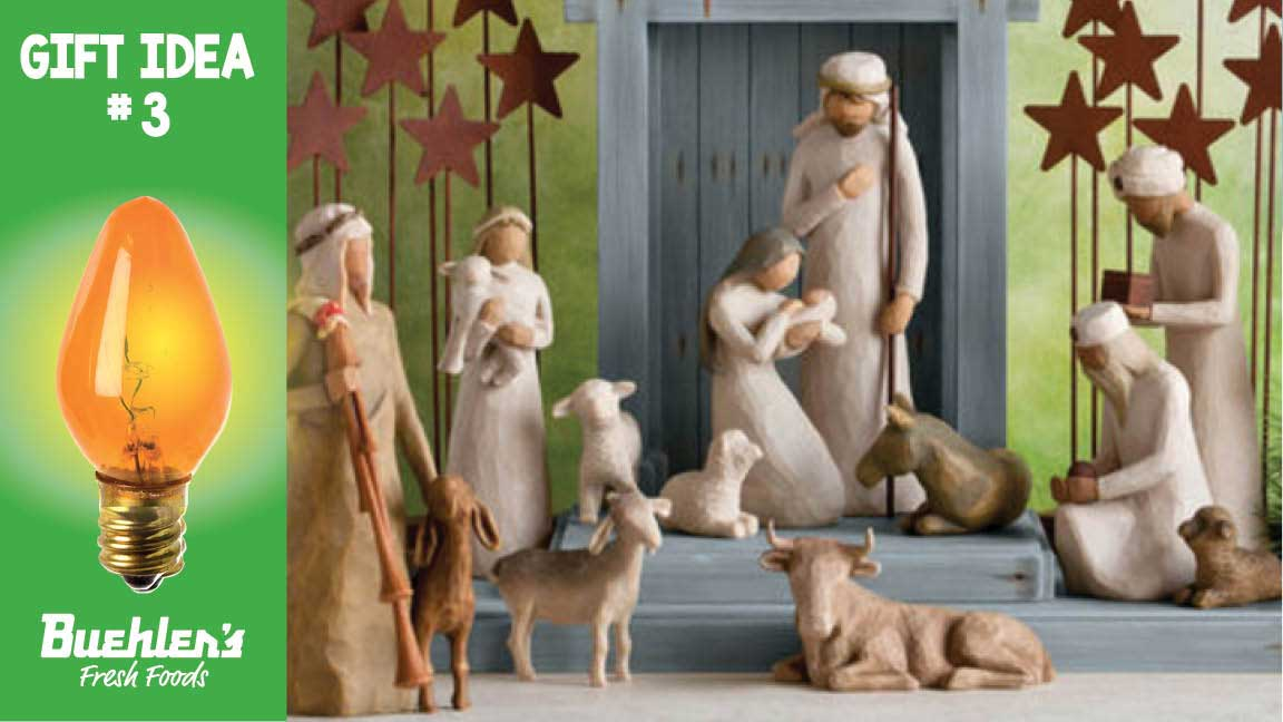 Willow Tree nativity scenes are available in Buehler's floral and gift department