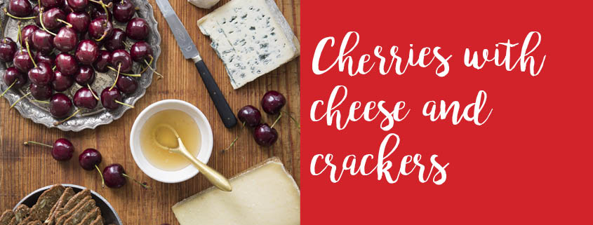 Cherries and cheese tray