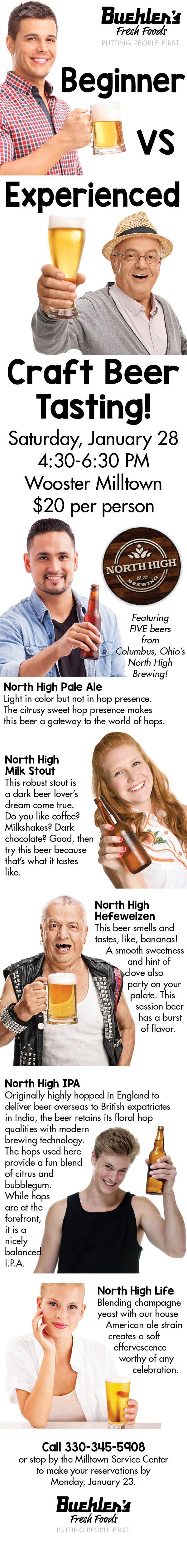 Milltown Beginner Vs Experienced Craft Beer Tasting