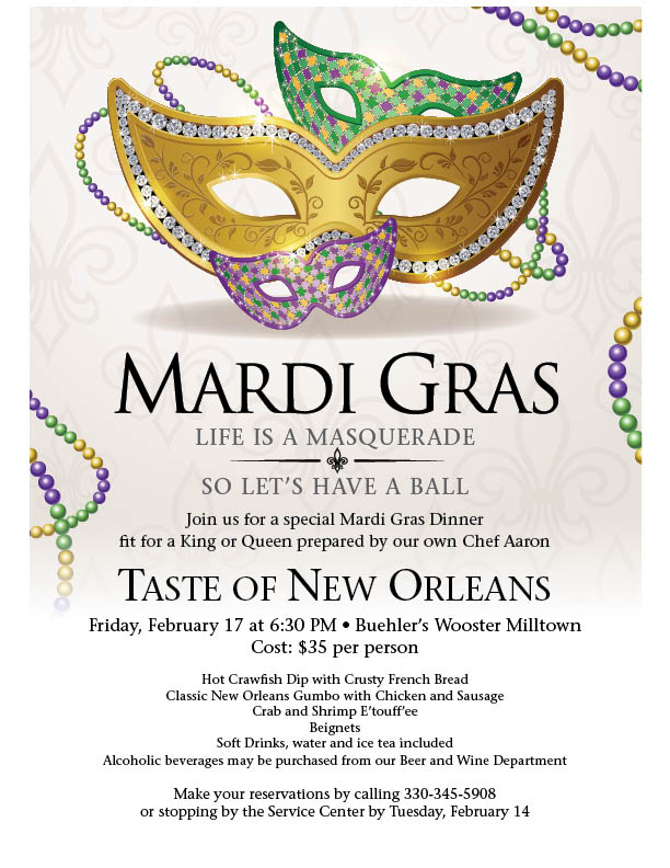 Mardi Gras dinner