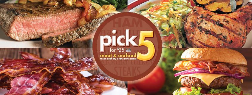 Pick 5 Meat