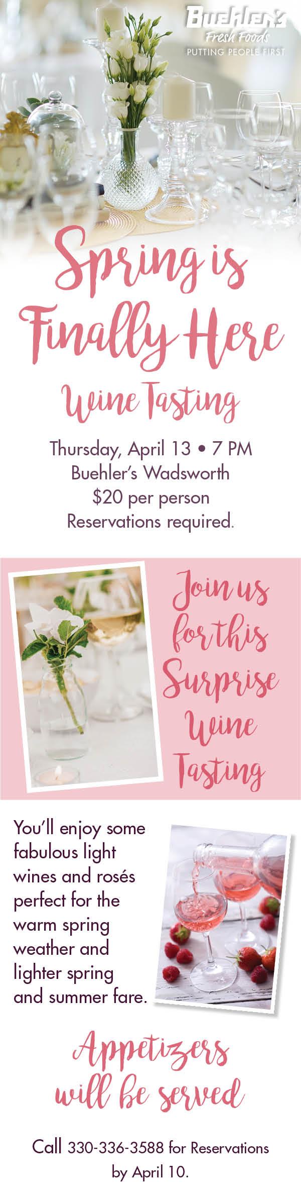 Spring Wine Tasting at Wadsworth