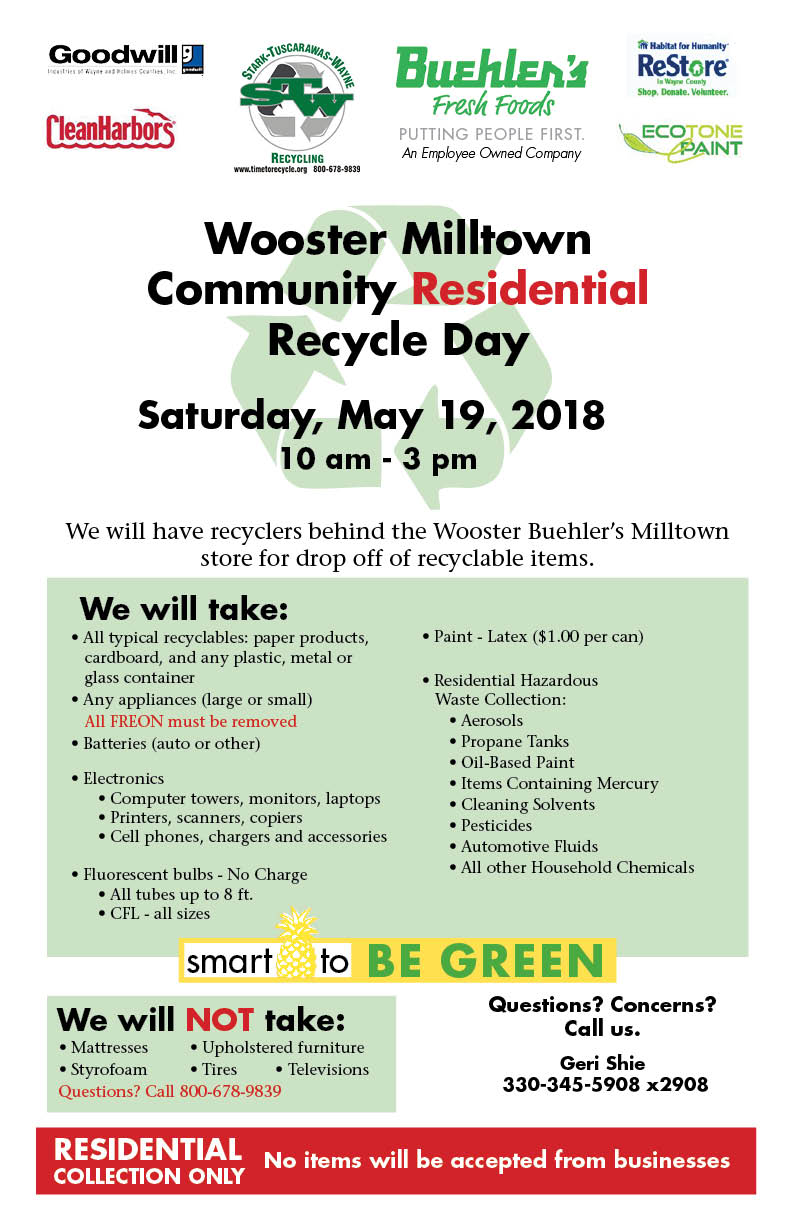 Recycle Day Wooster Milltown 2018